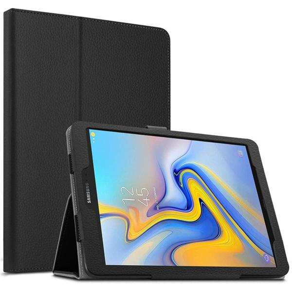 Кожен калъф флип за Samsung Galaxy Tab A 10.5 (2018) - черен