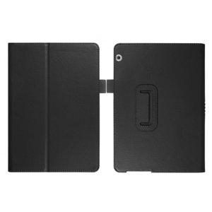 Кожен калъф флип за таблет Huawei MediaPad T5 10 - черен