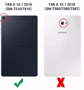 Кожен калъф флип за Samsung Galaxy Tab A 10.1 2019 SM-T510, SM-T515 - черен