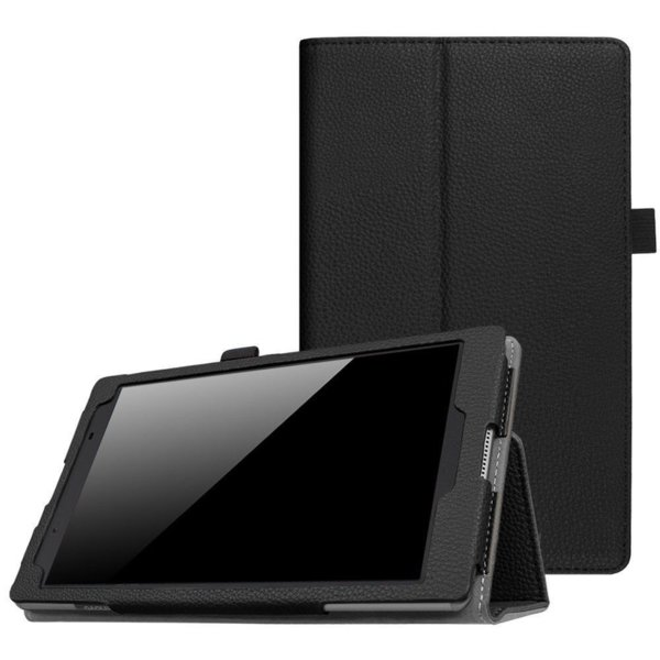 Кожен калъф флип за таблет Lenovo Tab E8  TB-8304 - черен