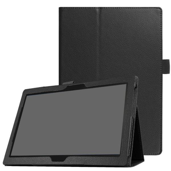 Кожен калъф флип за таблет Lenovo Tab E10  TB-X104 - черен