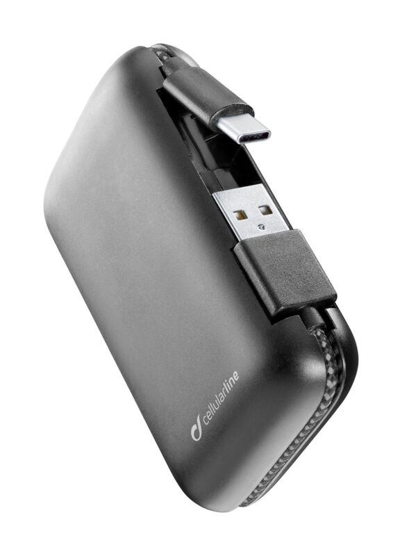 Външна батерия с вграден USB-C, 5000mAh