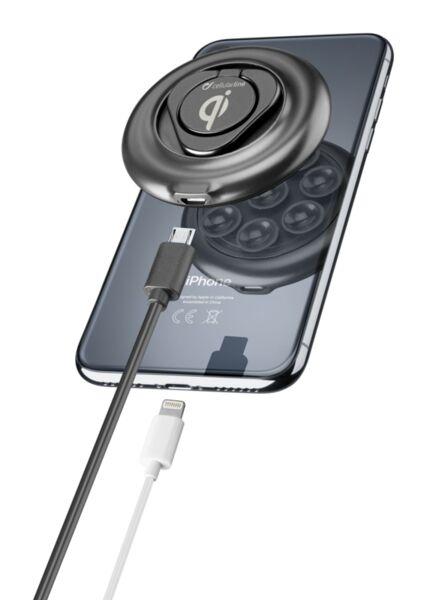 Безжично зарядно Cellularline с вакум за iPhone
