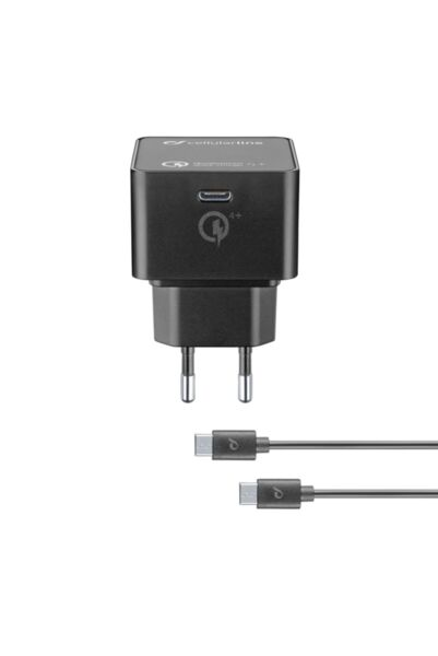 Зарядно с Power Delivery и кабел USB-C към USB-C 30W