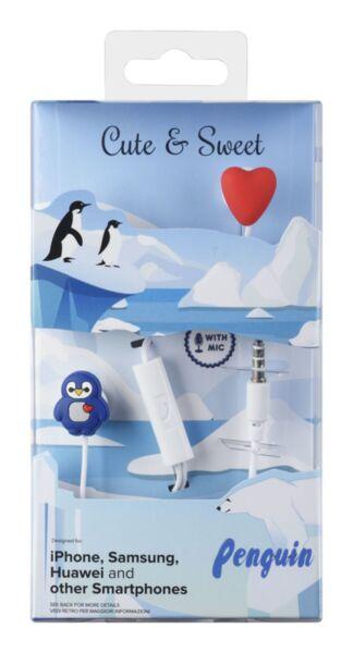 Слушалки за деца Cute & Sweet, Penguin