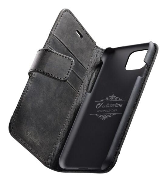Кожен калъф Book Supreme за iPhone 11 Pro Max, Черен