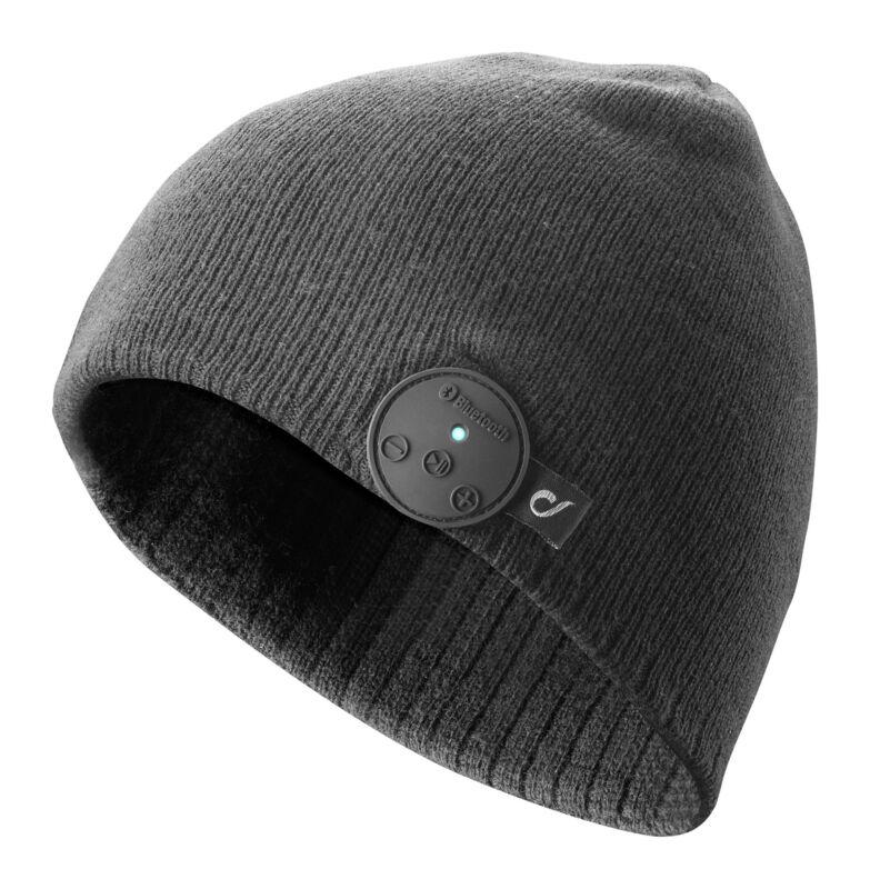 Шапка с Bluetooth слушалки черна 2019