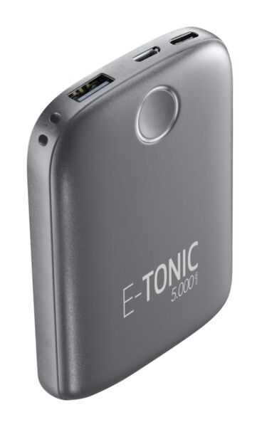 Външна батерия E-tonic HD 5000mAh, Черна
