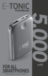 Външна батерия E-tonic HD 5000mAh, Черна