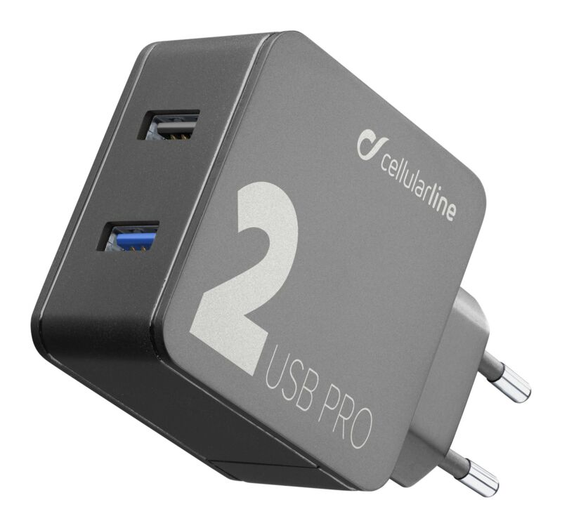 Зарядно 220V-12W +18W USB бързо зарядно