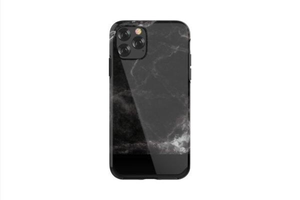 Твърд калъф Devia Marble за iPhone 11, Черен мрамор