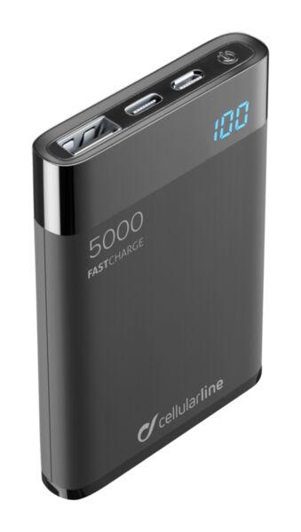 Външна тънка батерия Manta HD 5000mAh, Черна