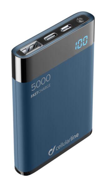 Външна тънка батерия Manta HD 5000mAh, Синя