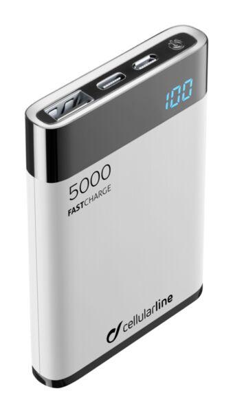 Външна тънка батерия Manta HD 5000mAh, Бяла