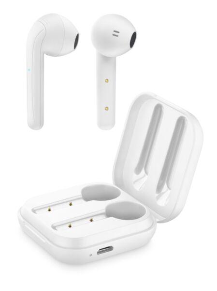 Bluetooth слушалки TWS Java бели
