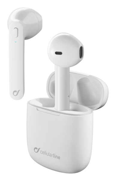 Bluetooth слушалки Aries TWS, Бели