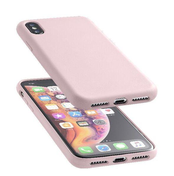 Матов калъф Sensation за iPhone Xs Max, Розов