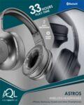Bluetooth стерео слушалки Astros AQL, Черни