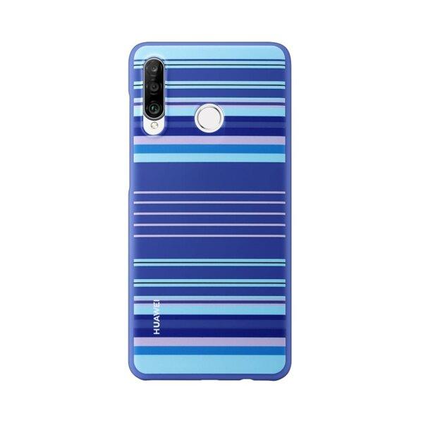 Оригинален калъф за Huawei P30 Lite, Сини линии