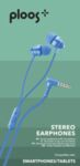 Слушалки с кабел 3.5мм и микрофон Ploos, Сини
