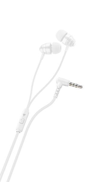 Слушалки с кабел 3.5мм и микрофон Ploos, Бели