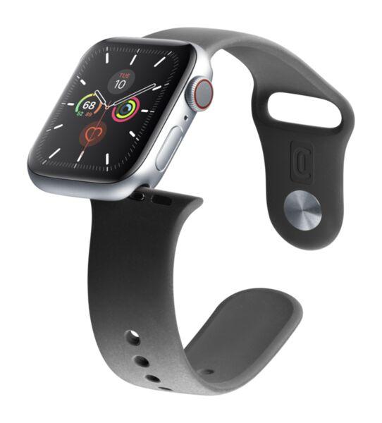 Силиконова каишка Urban за Apple Watch, 42/44mm, Черна