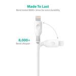 Комплект 2 Apple MFI усилени кабела RavPower, 90/180см