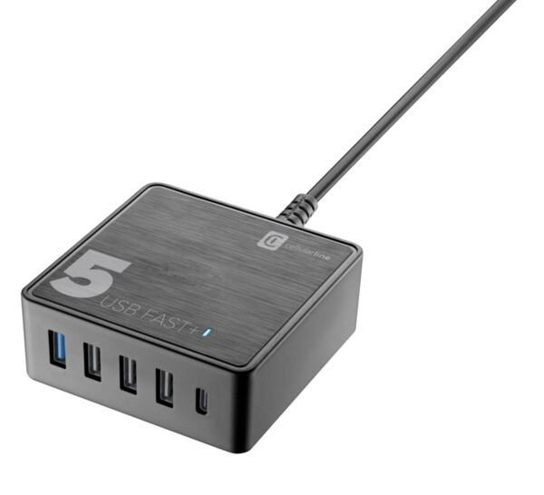 Зарядна станция Multipower Fast+ с 5 USB изхода, 60W