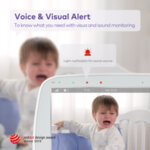 "Видео бебефон VAVA 720p 5"" HD дисплей с камера и аудио"