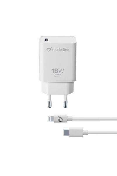 Зарядно Power Delivery с USB-C-Lightning кабел, 18W