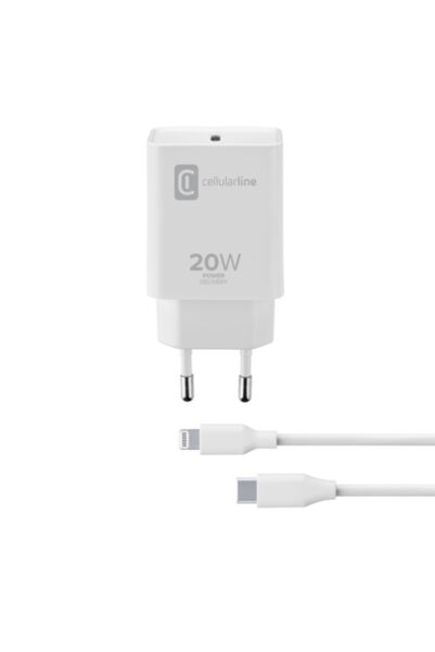 Зарядно Power Delivery 220V с кабел USB-C към Lightning, 20W