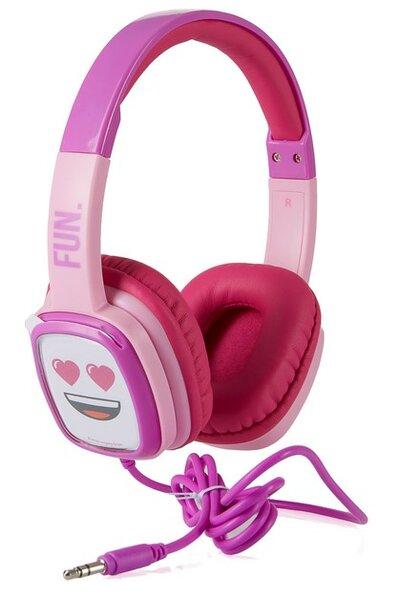 Слушалки Emoji Flip n Switch, Розови