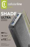 Външна батерия Shade 20000 mAh, Черна