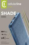 Външна батерия Shade 5000 mAh, Синя