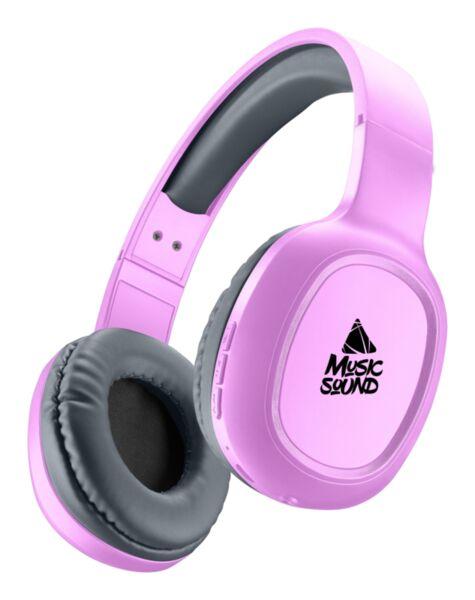 Bluetooth слушалки Music Sound Basic, Розови