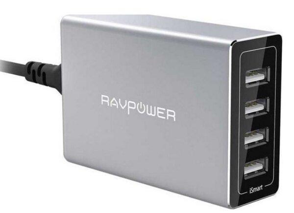 Зарядна станция RavPower с 4 изхода 40W технология iSmart RP-PC030
