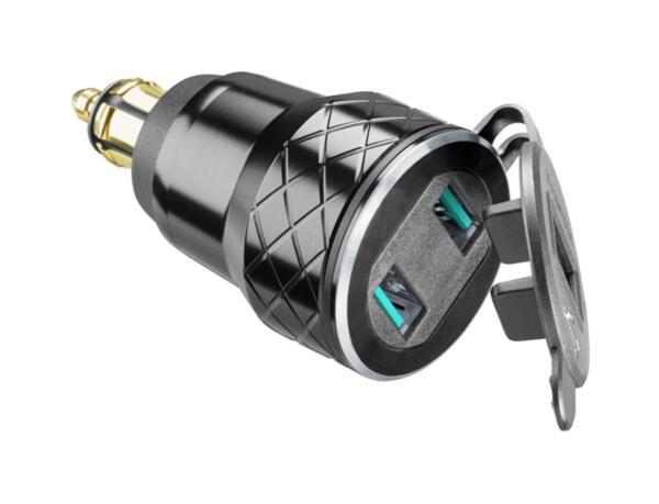 Двоен USB адаптер 12V до 4.2А с DIN connector