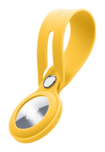 Силиконова каишка Loop за Apple AirTag, Жълта