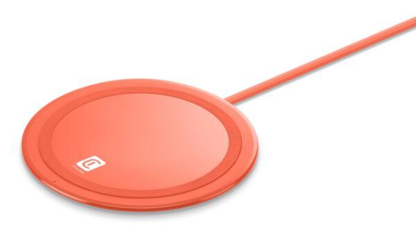 Безжично зарядно Qi Neon 10W, Оранжево
