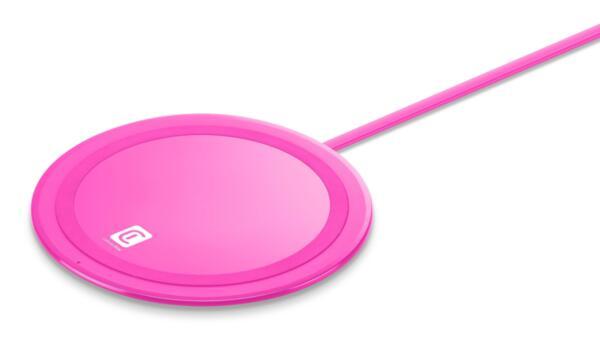 Безжично зарядно Qi Neon 10W, Розово