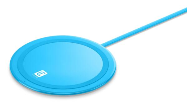 Безжично зарядно Qi Neon 10W, Синьо