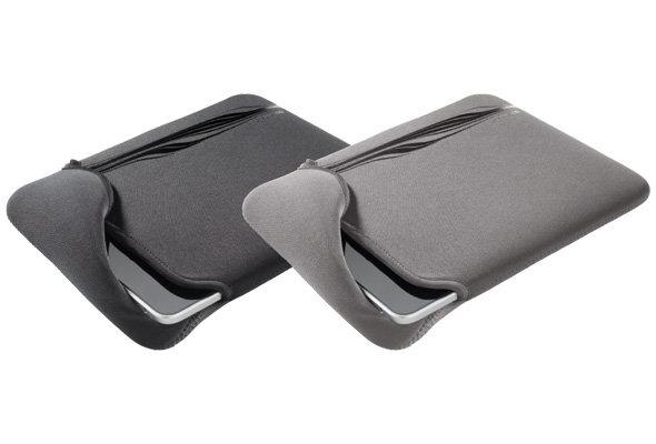 Неопренов калъф за iPad/iPad2 с две лица сиво и черно
