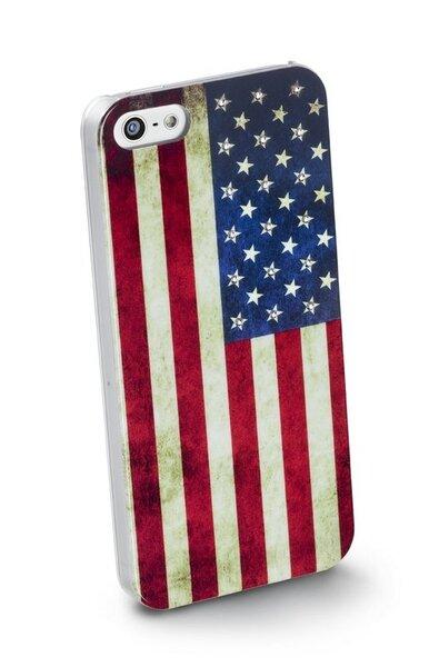 Калъф с кристали Swarovski за iPhone 5/5S/5SE, USA Флаг