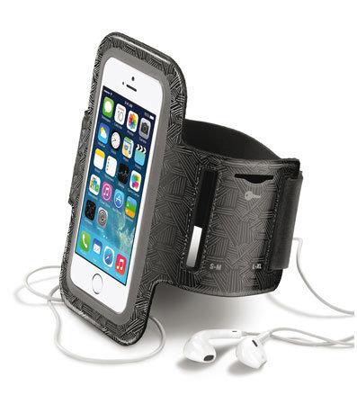 Спортен калъф Armband за iPhone 5/5S/5C/SE, Черен