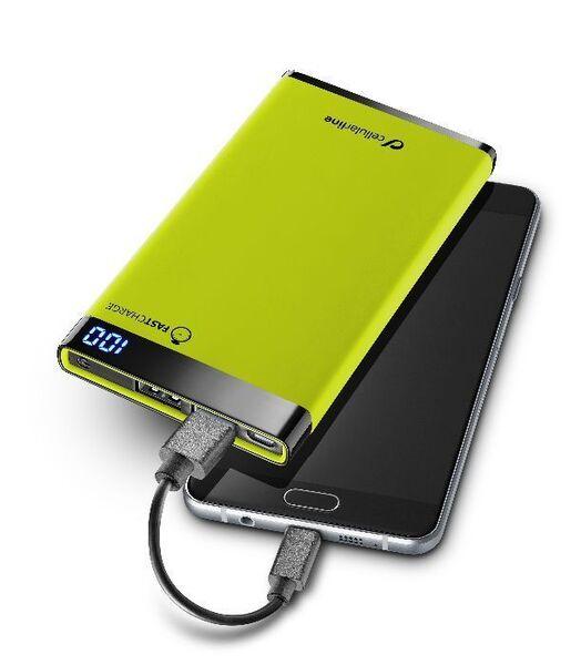 Външна тънка батерия Manta 6000mAh зелен