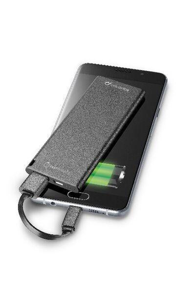 Външна батерия FreePower Slim 3000 mAh, черна
