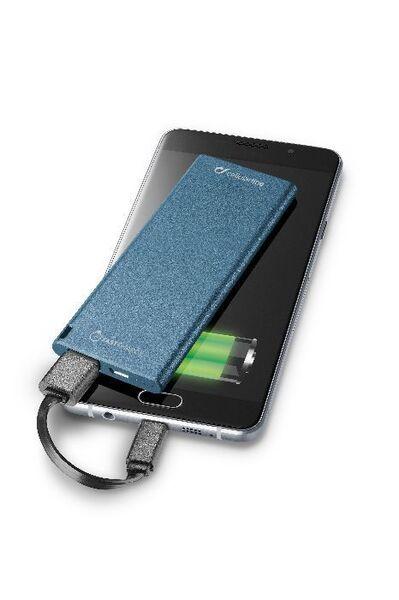 Външна батерия FreePower Slim 3000 mAh, синя