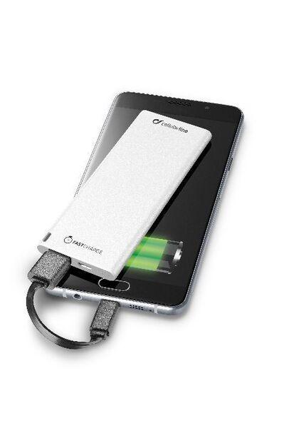 Външна батерия FreePower Slim 3000 mAh, бяла