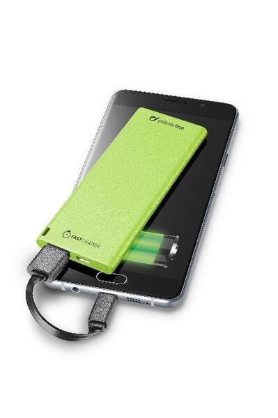 Външна батерия FreePower Slim 3000 mAh, зелена