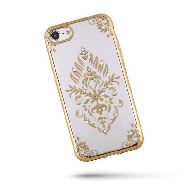 Силиконов калъф Beeyo Floral за Samsung Galaxy S8, Златен